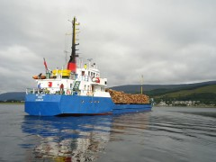 MV Isis carrying timber