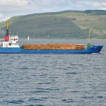 MV Isis, carrying timber, Sound of Mull